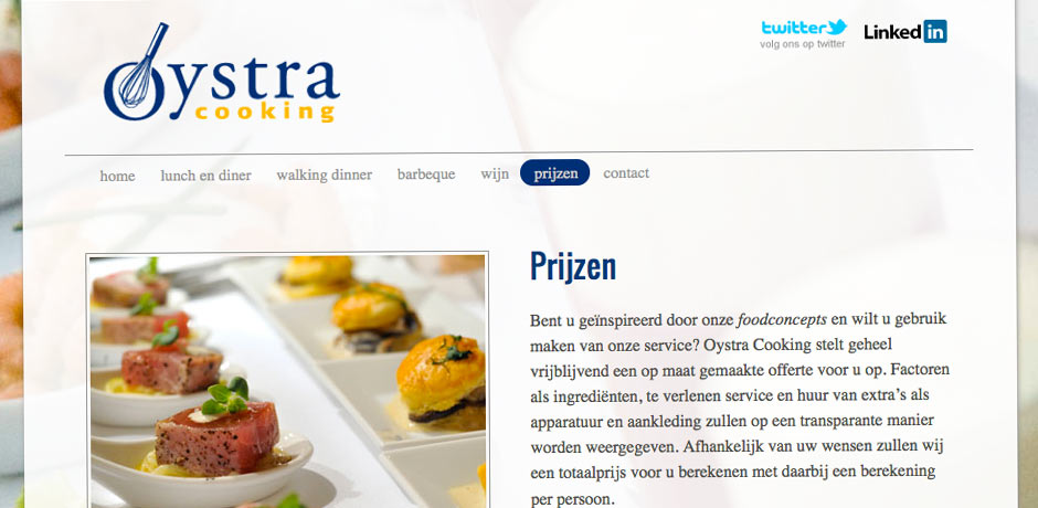 website Oystra Cooking